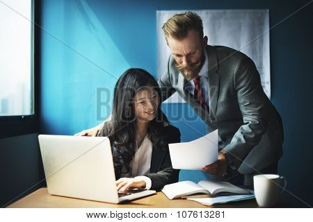 Business People Interaction Communication Discussion Corporate Concept