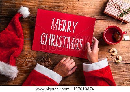 Santa Claus and wishlist
