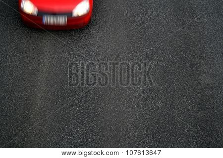 Background Of Black Tarmac Of Street