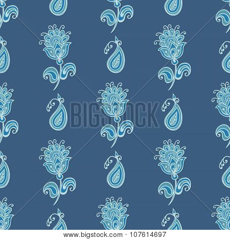 Flower paisley pattern.