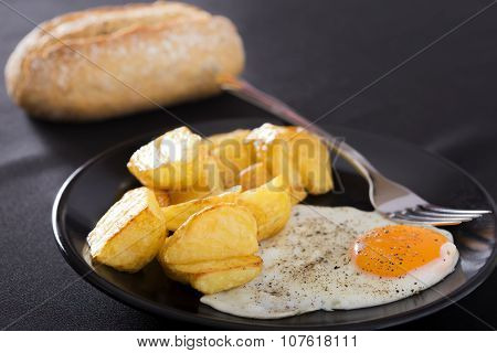 Fried Potato And Eggs