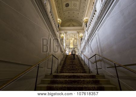 Interiors And Details Of The Embassy Of Poland, Paris, France