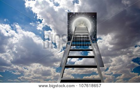 Ladder into hole in heaven