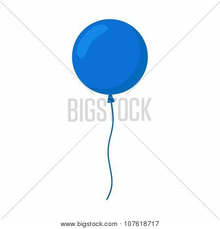 Balloon isolated icon. Colorful balloon.