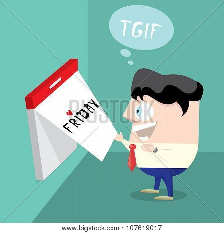 thanks god it is friday concept. i love friday