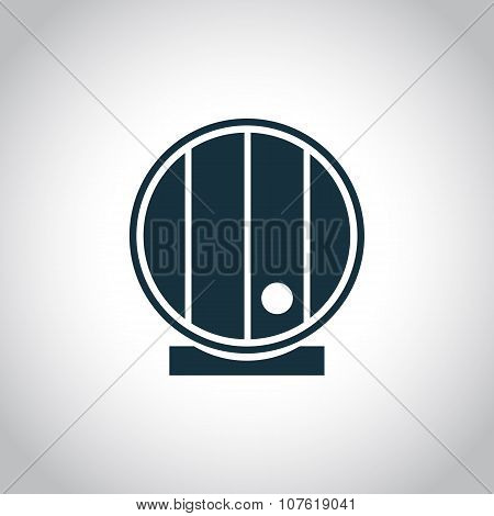 Barrel single flat icon