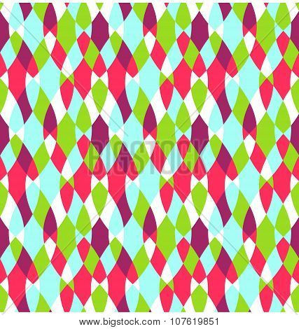 Seamless Bright Abstract Stained Glass Pattern