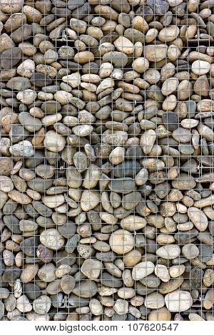 Backgrounds Collection - Wall Built Of Sea Pebbles