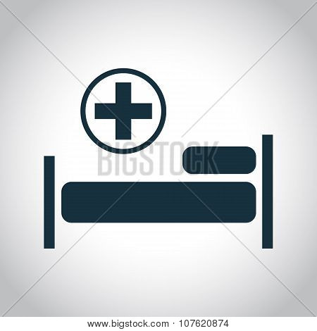 Hospital flat black icon