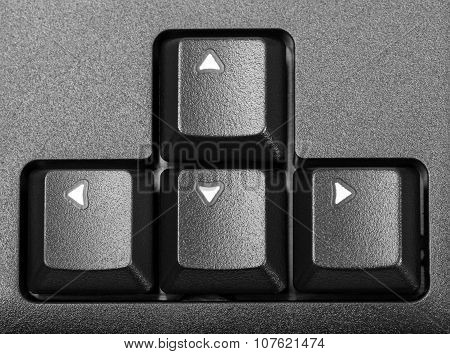 Electronic Collection - Block Arrows On The Computer Keyboard