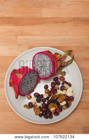 Dragonfruit With Nuts