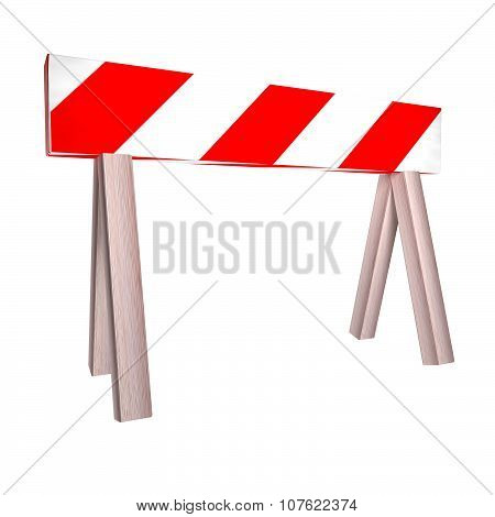 Barrier Over White
