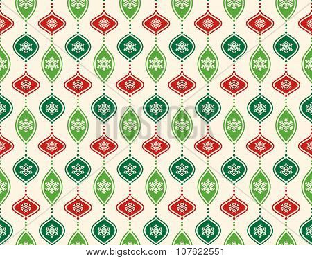 Seamless Abstract Christmas Pattern With Stylized Christmas Ball
