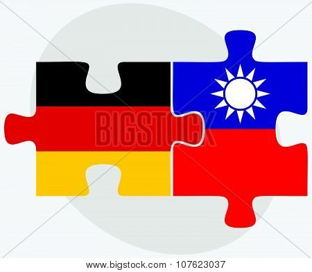 Germany And Taiwan Flags