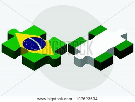 Brazil And Nigeria Flags