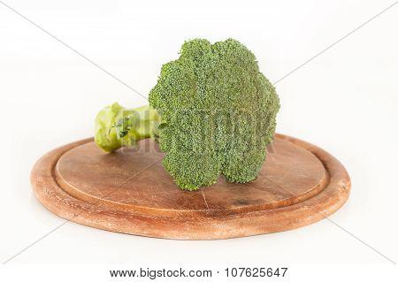 Head of fresh broccoli