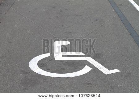 Invalid Sign On Parking Asphalt