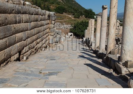 Ancient Street In Ephesus