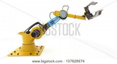 3D Render of an Industrial Robot Arm