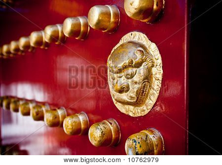 Golden Lion Door Handle