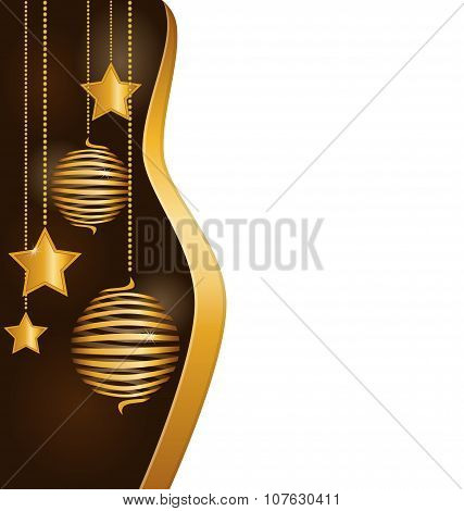 Christmas Background With Spiral Balls