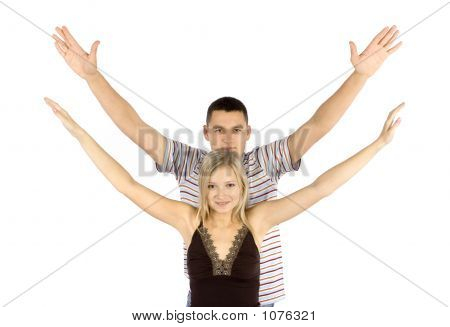 Woman And Man Train Together