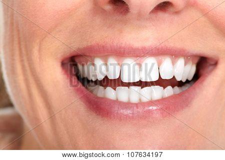 Beautiful woman smile. Dental health care concept.