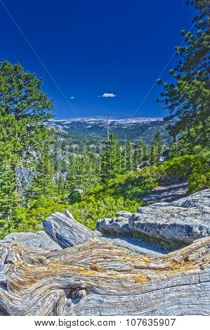 Rock Formations In Yosemite National Park In California, Usa. Hdr Image