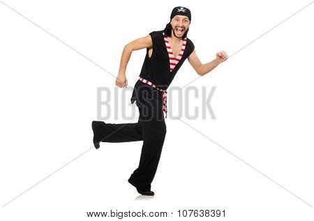 Man pirate isolated on the white background