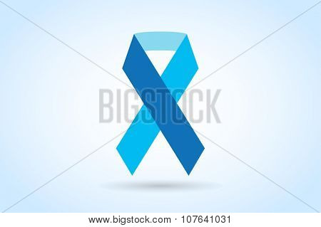 Stop cancer ribbon medical logo icon concept. Cancer ribbon, breast cancer awareness symbol, isolated on background. Vector illustration of cancer ribbon logo for people cancer and cancer icon symbol