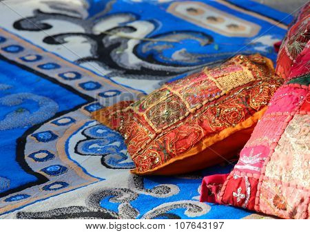 Pillows And Precious Carpets In A Harem