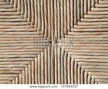 Background Of Wicker Woven By An Artisan
