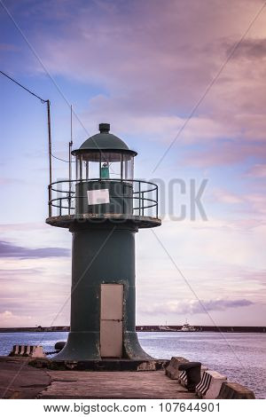 Small Lighthouse In Genoa