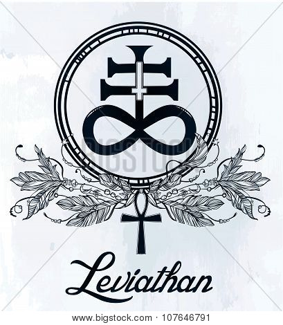 The Satanic Cross symbol illsutration.