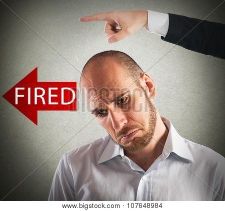 Sad fired businessman