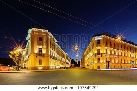 Night View Of Saint Petersburg