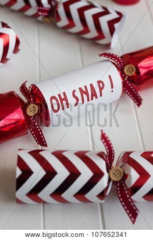 Red Christmas Cracker With Fun Phrase