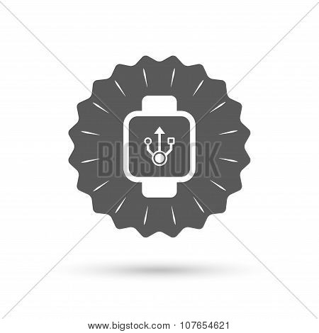 Smart watch sign icon. Wrist digital watch.