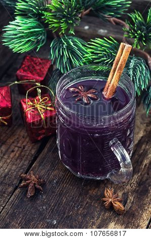 Mulled Wine And Christmas Tree.