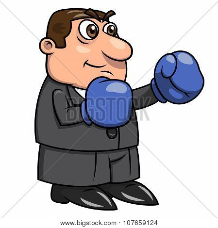 Businessman with boxing gloves 4