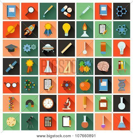 Flat sciense icons