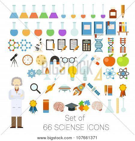 Set of 66 sciense icons
