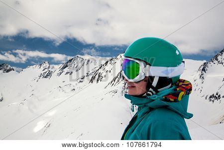 portrait of snowboarder
