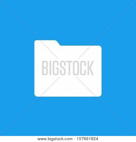 Folder icon, minimal flat design style, vector illustration