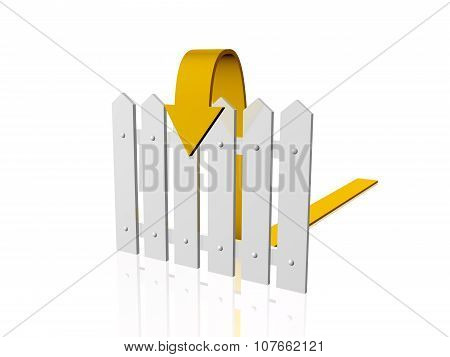 Fence And Arrow