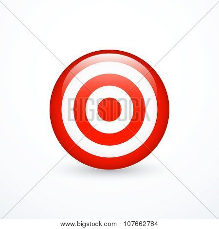 Round red and white target