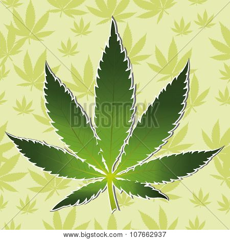 Cannabis leaf icon isolated vector illustration