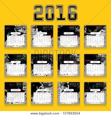 Calendar for 2016