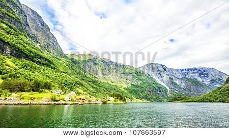 Fjords In Norway And Scandinavian Nature. Neroyfjord.