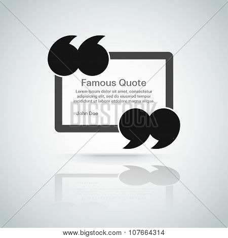 quote vector border